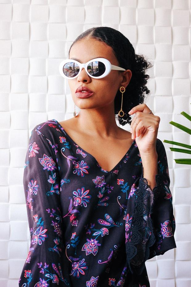 Retro White Oval Sunglasse, SUNGLASS.LA, fashion sunglass, vintage sunglass, como usar óculos escuros, óculos de sol feminino, como usar óculos de sol, óculos de sol vintage, óculos de sol retrô, óculos kurt cobain, óculos kurt cobain branco