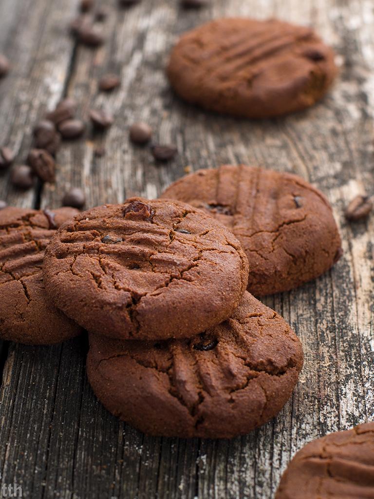 Ciasteczka z dyni z kawa i maslem orzechowym weganskie, bezglutenowe, bez cukru