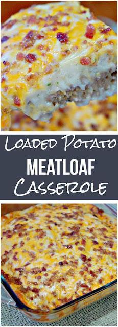 Loaded Potato Meatloaf Casserole
