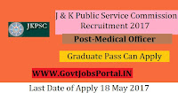 Jammu and Kashmir Public Service Commission Recruitment 2017– 371 Medical Officer