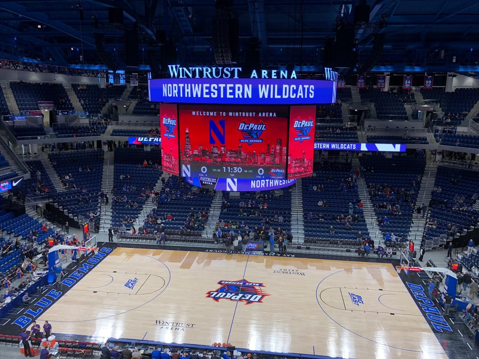 Exterior: Hindsight : Northwestern Vs DePaul At Wintrust Arena