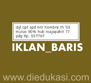 Menulis Iklan Baris Bahasa Indonesia