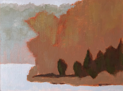 landscape study based on Painting the Poetic Landscape Composition lesson - block-in 4