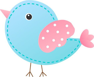 Pink and Light Blue Bird: Free Printable Box.