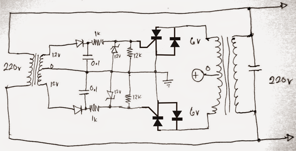 Simplest Grid-tie Inverter (GTI) Circuit Using SCR