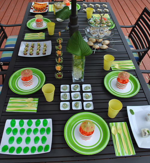 green and yellow summer party ideas