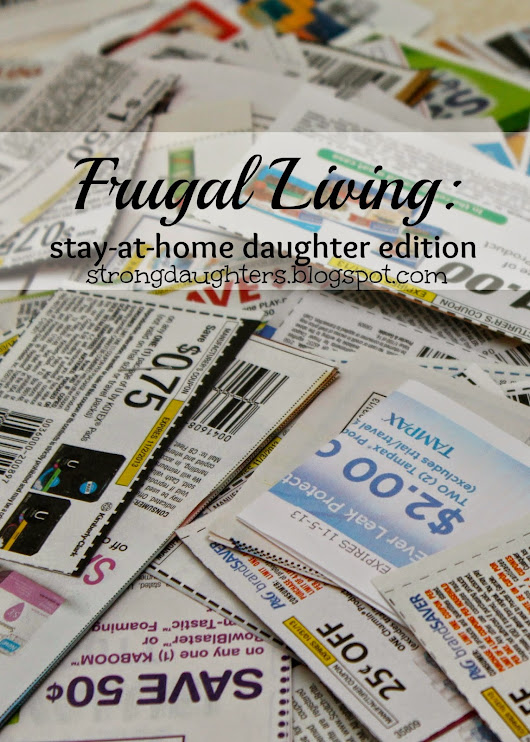 Frugal Living: SAHD Edition