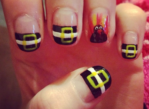 Fun And Easy Thanksgiving Day Nail Art Ideas
