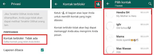 Cara Memblokir Nomor Kontak Tertentu di WhatsApp
