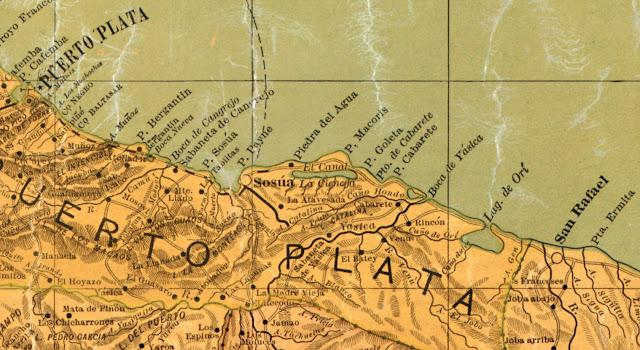 mappa di Sosua di Casimiro de Moya