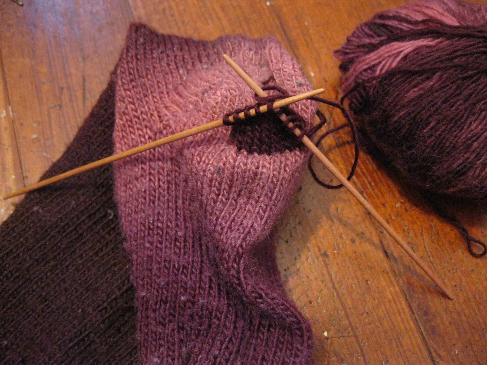 Picking Up Stitches In Knitting Socks : Apron History: Sock Mending