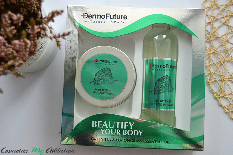 DERMOFUTURE | Zestaw Natural Spa Leaf Green - idealny na prezent