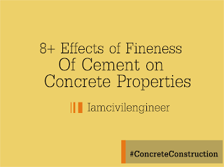 Effect of Fineness of Cement on Concrete Properties