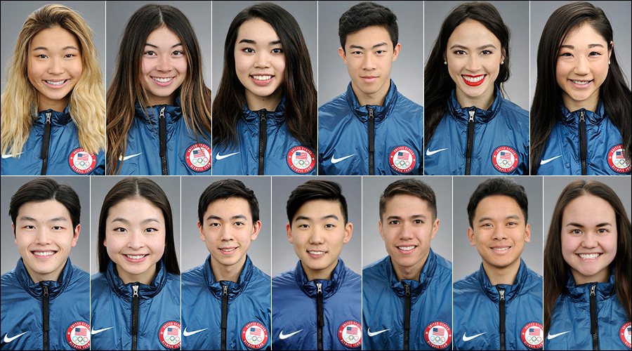 Image result for ASIAN AMERICAN AT WINTER OLYMPICS