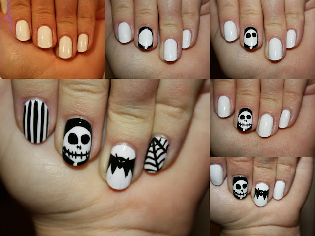 Nightmare Before Christmas Halloween Nail Art Tutorial