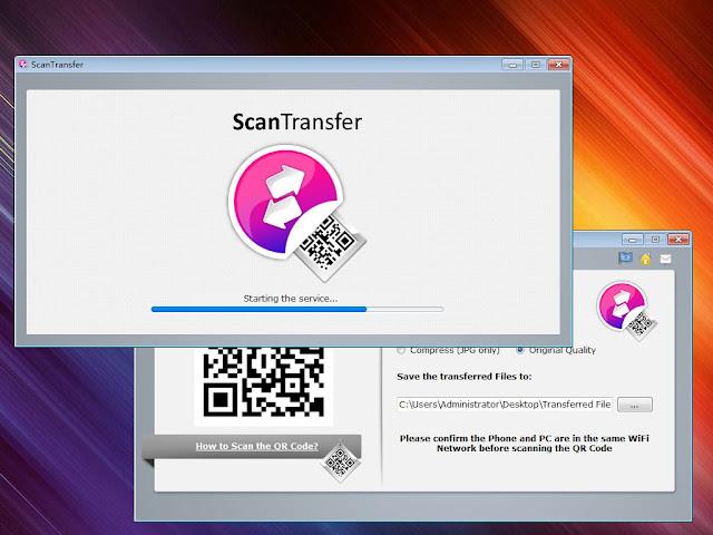 بالصور شرح  نقل الصور والفيديوهات  من الهاتف الى  الكمبيوتر مباشرة باستخدام برنامج ScanTransfer