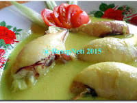 Resep Gulai Cumi Isi Kentang ( Curry Squid With Potatoes Stuffing Recipe )
