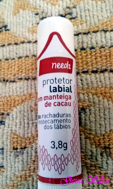 Protetor labial needs com manteiga de cacau