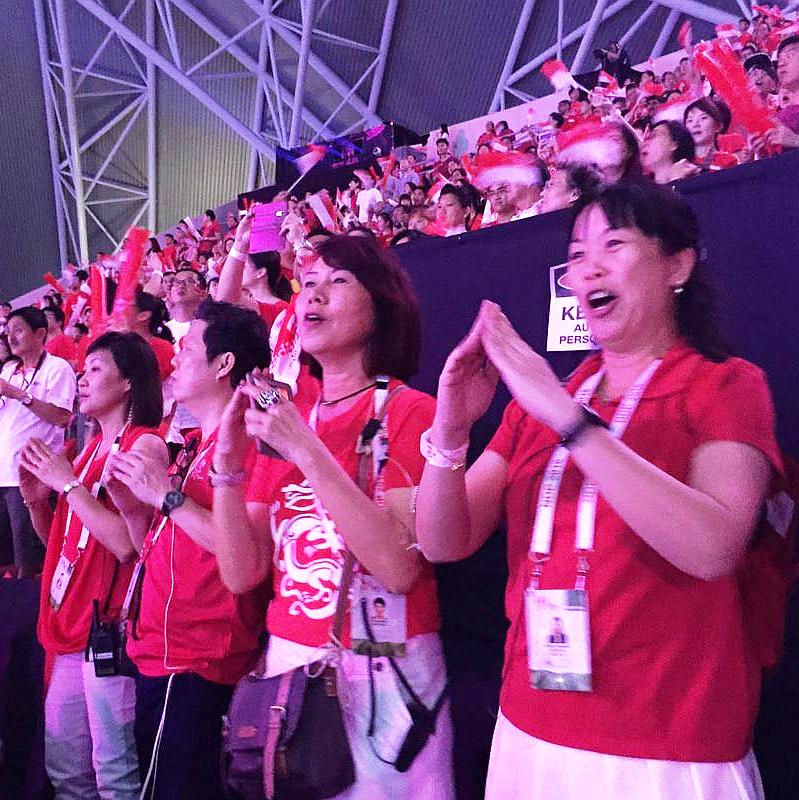 Performers using sign language to sing National Day favourite Home, on Aug 9, 2016.