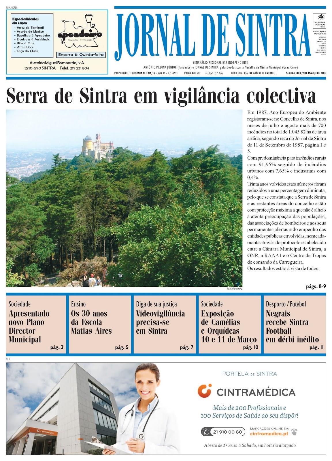 Capa da edição de 09-03-2018