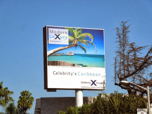 Celebrity Caribbean Cruise billboard