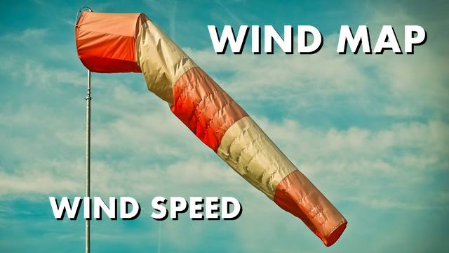 Wind speed and wind map