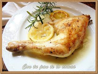 Pollo al romero y limon