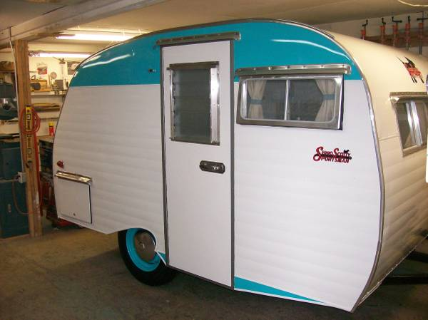 used rvs vintage small trailer 1964 serro scotty for sale by owner. Black Bedroom Furniture Sets. Home Design Ideas