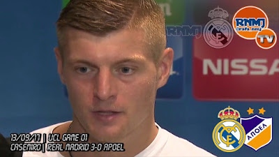 Declaraciones de KROOS post Real Madrid 3-0 Apoel de Champions League (13/09/2017)