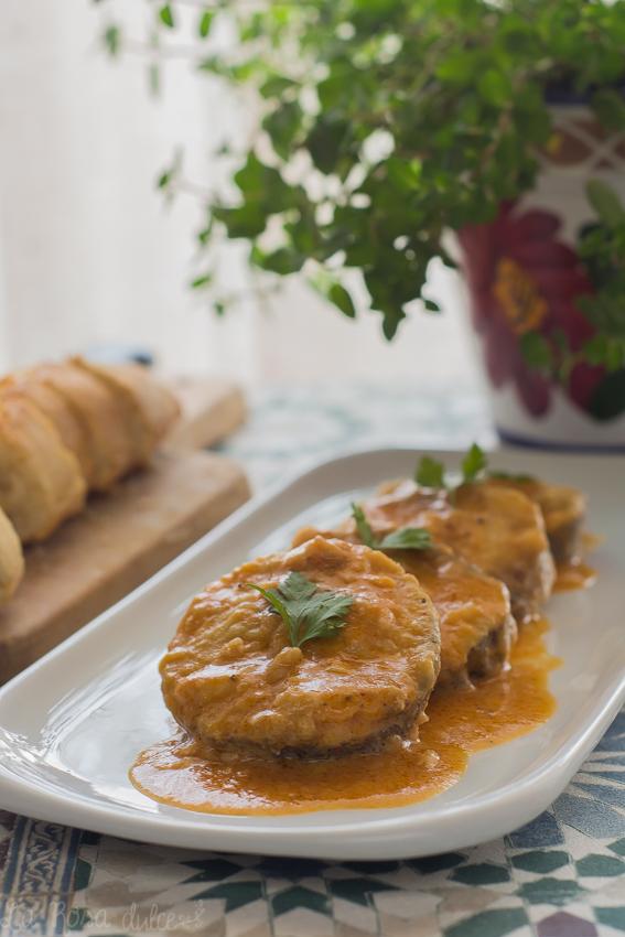 Merluza en salsa de almendras #singluten #sinlactosa