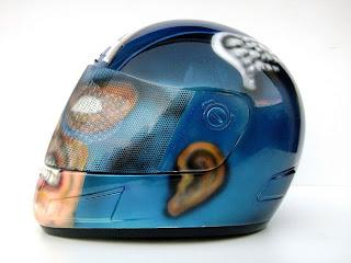 Angeluz Creations Custom Motorcycle Helmet Quot Captain America Quot