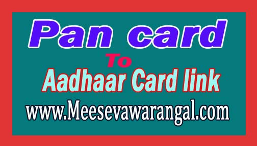 Pan card to Aadhaar Card link