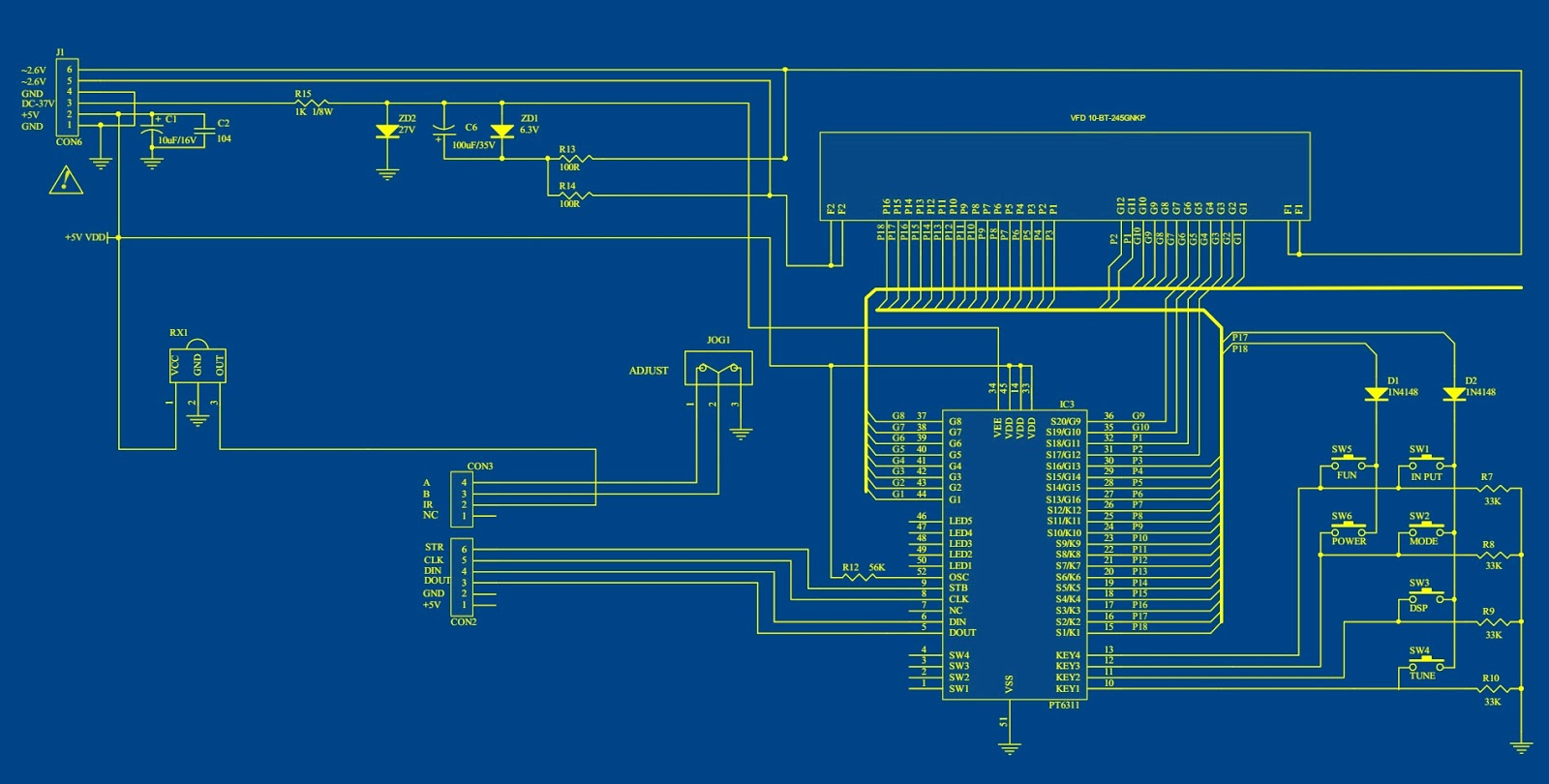 Electronic Circuit Schematic Diagrams Wiring 2019 Drawing Software Microlab Ah500 Hts Diagram Cd4052 M62446 Electronics Free Download
