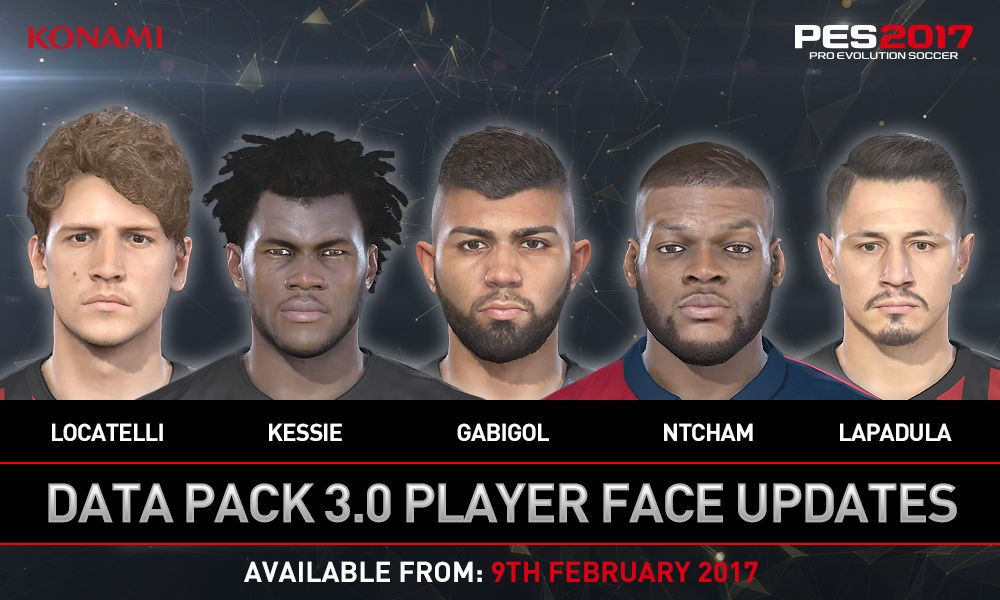 PES 2017 Data Pack 3.0 Release 9 February 2017 (100+ face updates, new legends and more)