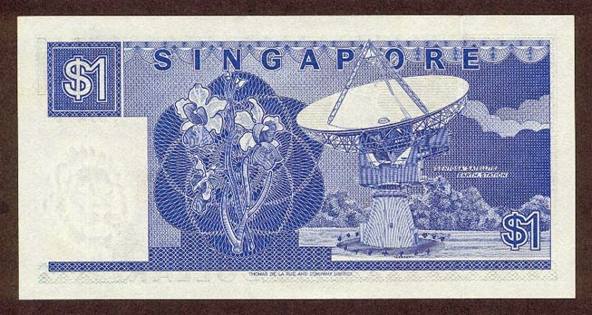 Singapore one Dollar note Ship Series
