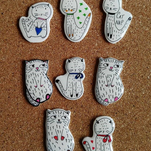 Cute Little Cat Brooches