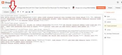 Jangan Gunakan Microsoft Word, Begini Cara Membuat Dan Menyimpan File Artikel Blogger Yang Benar