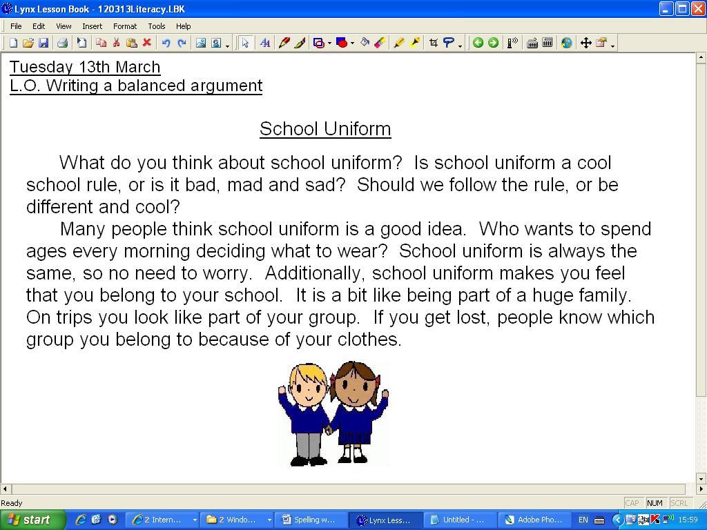 my persuasive essay on school uniforms