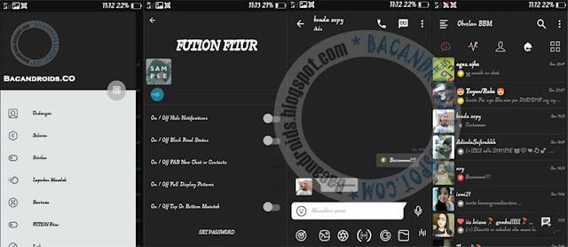 BBM Mod Dark Fution Versi 3.0.1.25 Apk Terbaru for Android