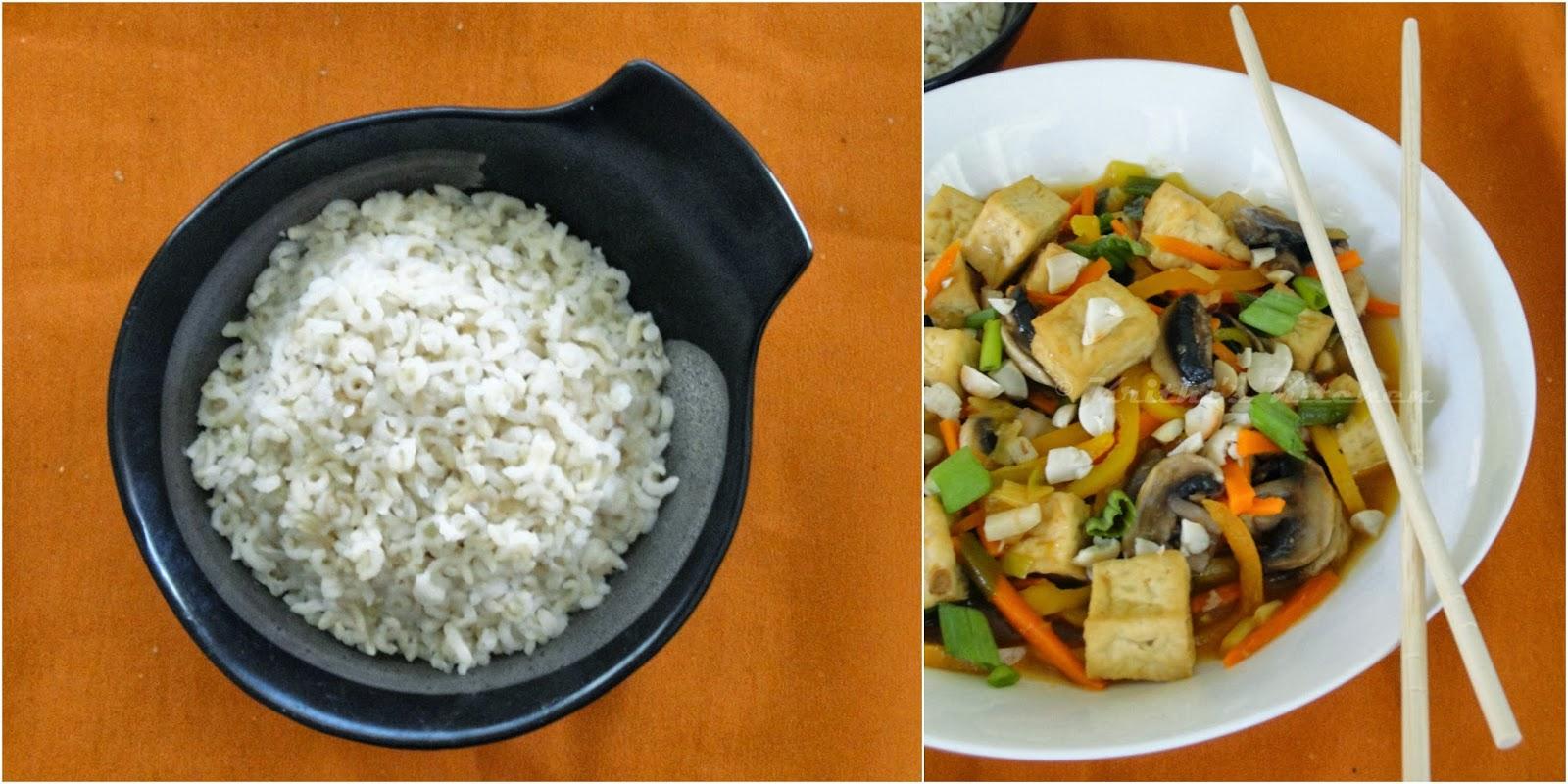 Krithi S Kitchen Szechuan Style Tofu And Mushroom With