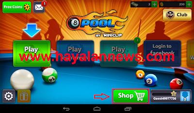 Cash dan coins gratis game 8 ball pool untuk android dan tablet