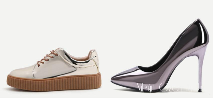 alışveriş-metalik ayakkabılar