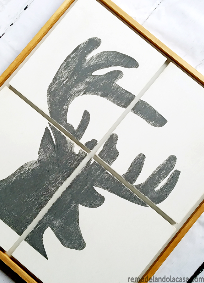 diy fall decor deer head silhouette art