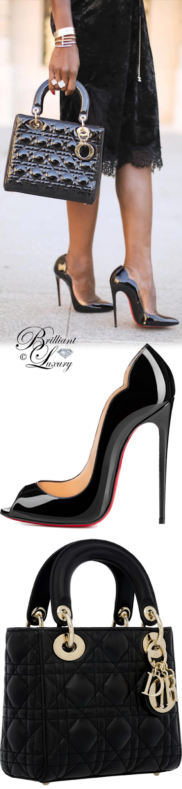 Brilliant Luxury ♦ Lady Dior bag and Christian Louboutin New Wave pumps #streetstyle #black