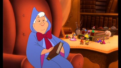 Fairy Godmother reading Cinderella II: Dreams Come True 2002 animatedfilmreviews.blogspot.com