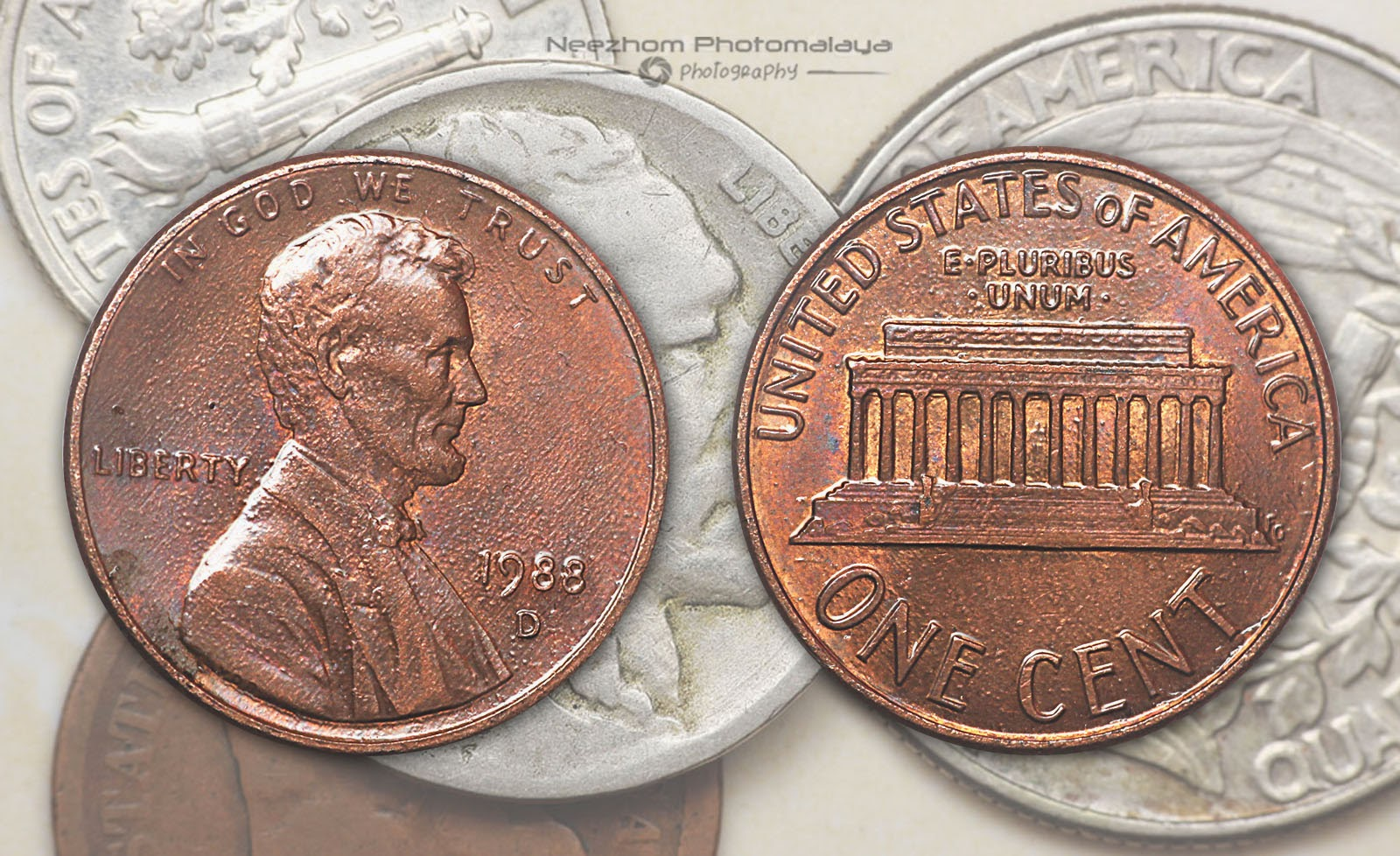 Lincoln cent 1 cent 1988