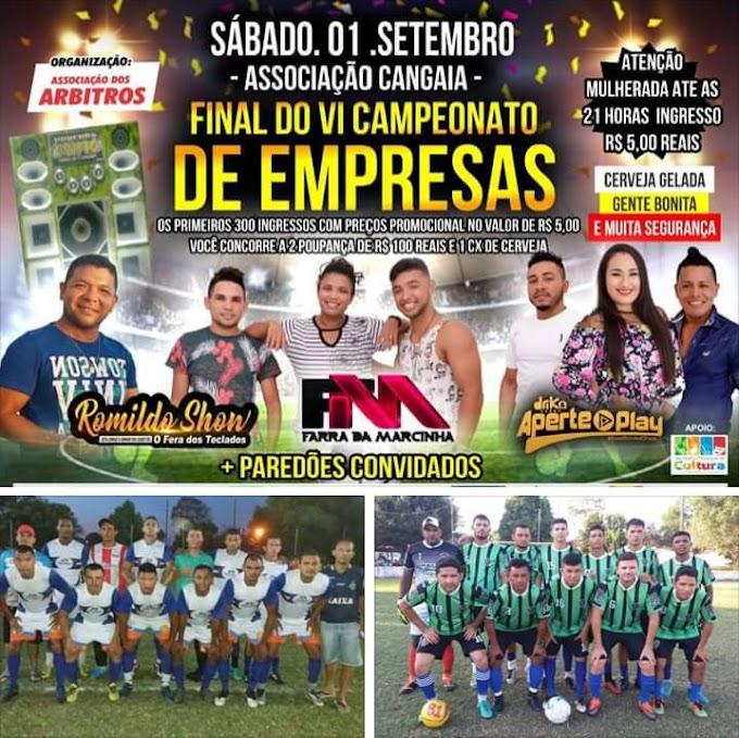 Três Bandas e disputa de campeão marca a final do Tradicional campeonato de empresas de Chapadinha