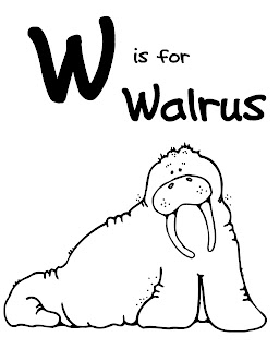 We Love Being Moms!: Letter W (Walrus)