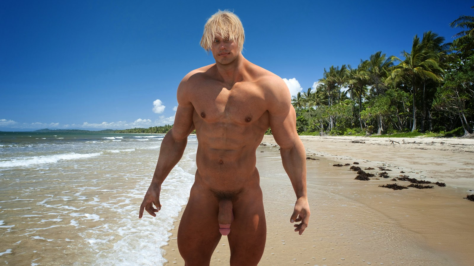 Naked Male Beach-6036
