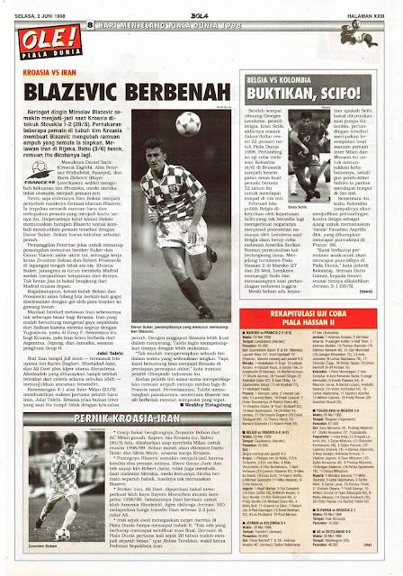 CROATIA VS IRAN 1998 BLAZEVIC DAVOR SUKER